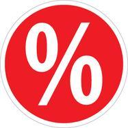Лепенка знак за процент, кръгла