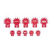 Табела с формата на звезда, червена