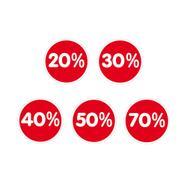 """Лепенка """"Проценти"""", с различни намаления"""