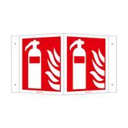 Пожарогасител с ъглово табло