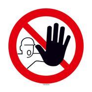 """Табела """"Забранено за външни лица"""", кръгла"""