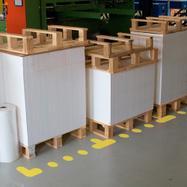 Т-образен стикер за подово маркиране