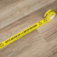 """Предупредителна лента """"Моля, спазвайте дистанция"""""""