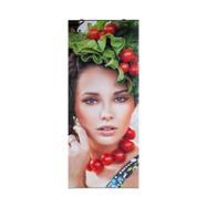 Полиестерен декоративен банер с лайсна за притискане горе/долу, едностранно напечатан