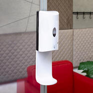 Sensor-Wall - диспенсър за дезинфектант за стреч-рамки и 30 мм Quattro профили