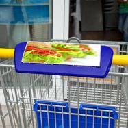Рекламна рамка за дръжка на пазарска количка