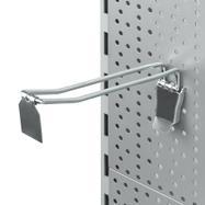 Двойна кука за перфорирана стена със заключващ елемент