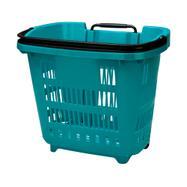 Пазарска кошница на колела с телескопична дръжка