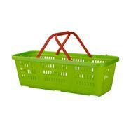 Пазарска мини кошница в светло зелено, 4 литра обем