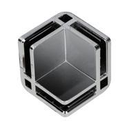 Съединител на плоскости за сглобяеми витрини