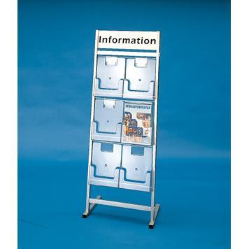 """Щанд за брошури с 6 разделения и рекламна табела""""Venus"""""""