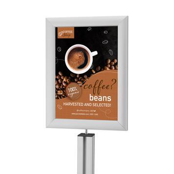 """Алуминиева хедър табела """"Multi"""" за серия стойки и дисплеи """"Quattro"""""""