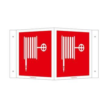 Ъглова табелка-обозначение на противопожарния маркуч