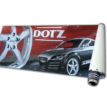 """Цифрово напечатан банер за банер рамка- сглобяема стоманена система """"Vacant"""""""