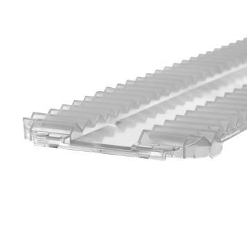 Спирачка срещу плъзгане за система Perfekta за разделяне на рафт - 95 см ширина