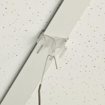 Таванна скоба пластмаса, кука 900 спрямо таван