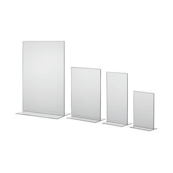 """Поставка за меню """"T-Shape"""" в DIN формати, прозрачна"""