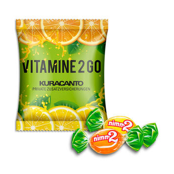 Бонбони Nimm2 дуопак в рекламна опаковка