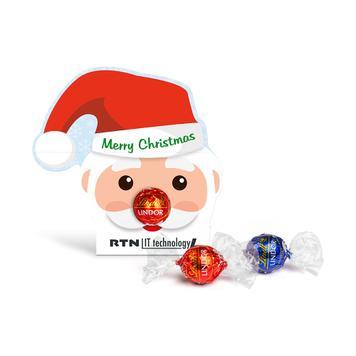 """Шоколадов бонбон Lindt Lindor в рекламна опаковка """"Santa Claus"""""""
