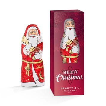 Дядо Коледа Lindt в отпечатана рекламна кутия