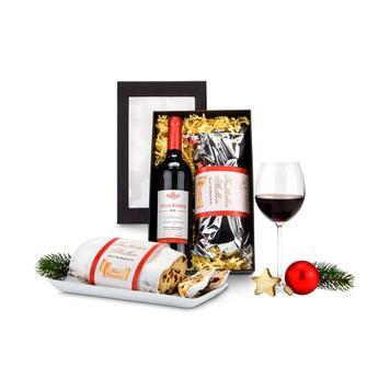 """Подаръчен комплект """"Червено вино и щолен"""""""