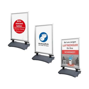 """Водоустойчива тротоарна рекламна табела """"Seal"""", с плакат"""