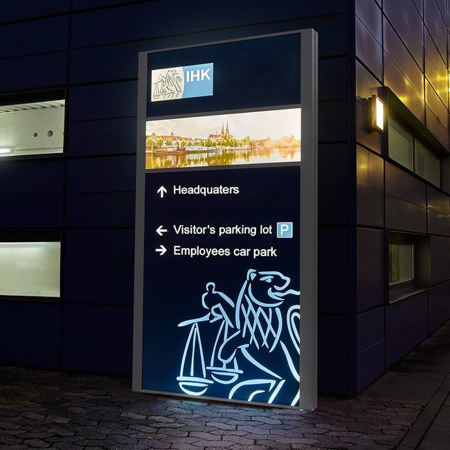 """Светеща рекламна табела""""Madrid LED """""""