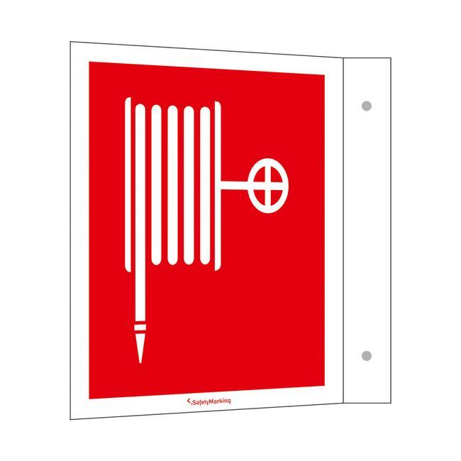 39)Табелка-обозначение на противопожарния маркуч
