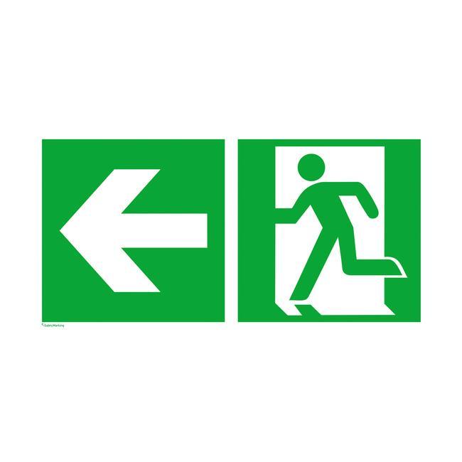 Стрелка указваща авариен изход наляво