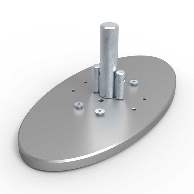 """Овална основа за алуминиев профил  """"Quattro"""""""