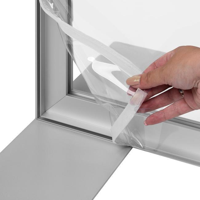 Кристално чист банер за алуминиеви стреч рамки