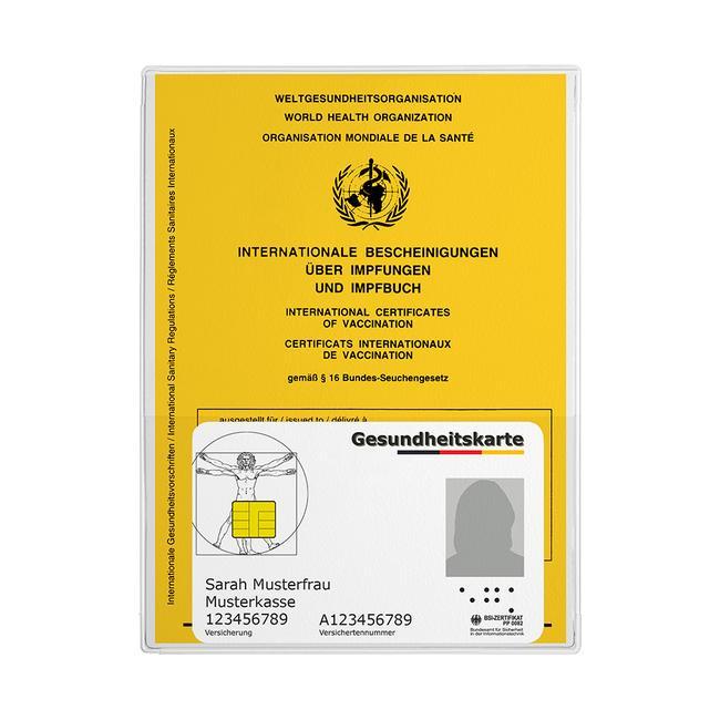 Защитен джоб за сертификат за ваксинация
