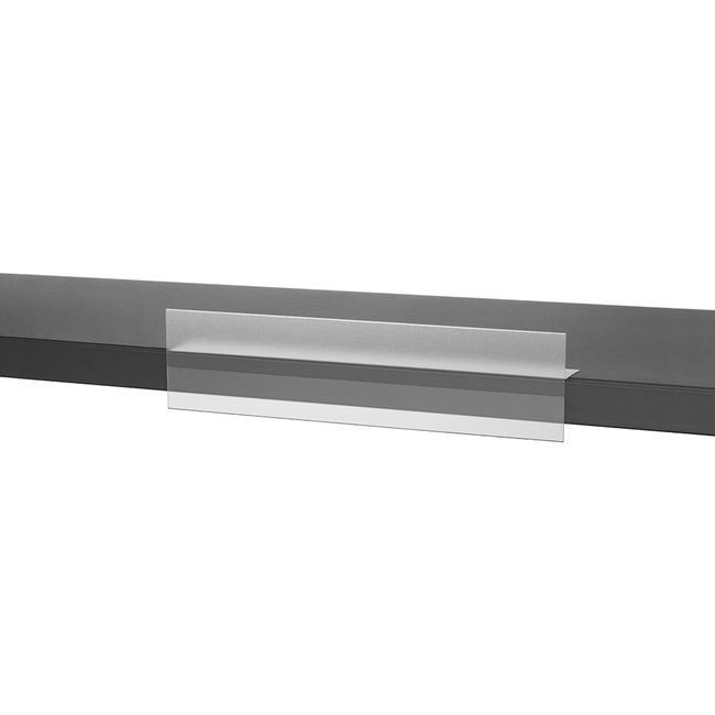 Монтажна релса с преден ограничител за залепване към подовете на стелаж