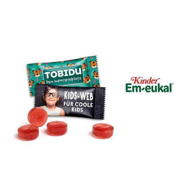 Детски бонбони за кашлица в рекламна опаковка