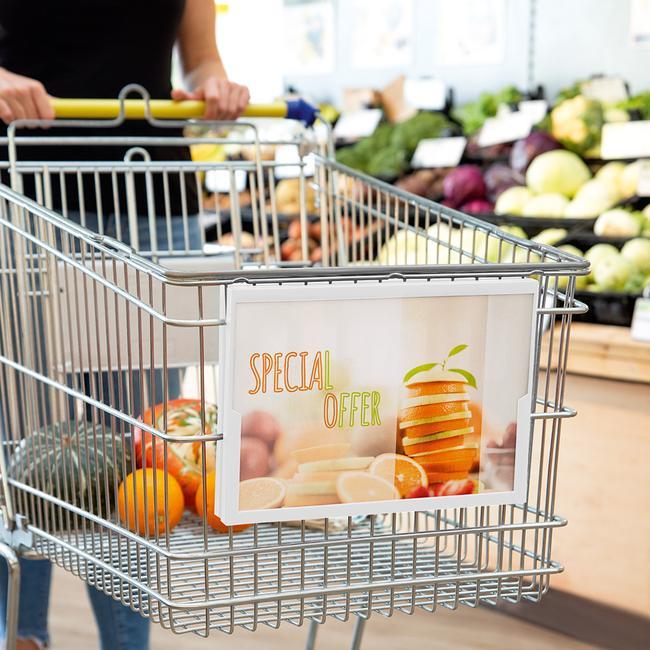 Плакатна рамка за пазарски колички