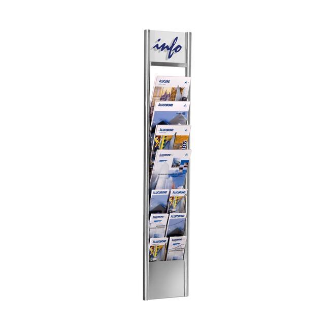 """Стенна поставка за списания и брошури """"Fidel"""" със 7 отделения"""