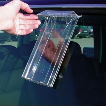 """Поставка за листовки """"Weser"""" за окачване върху автомобилни прозорци"""