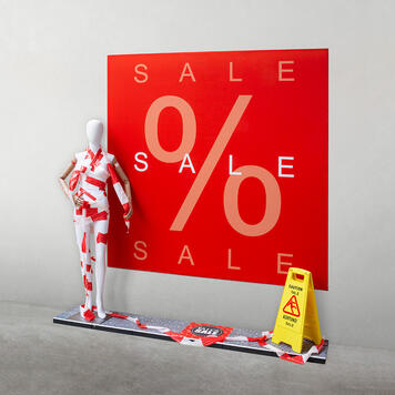 """Стреч-рамка рамка""""Sale""""  с банер"""