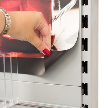Табелка с магнитно фолио, с печат, за рафтовите системи  Tegometall