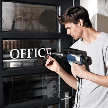 Пистолет за топъл въздух за надписи
