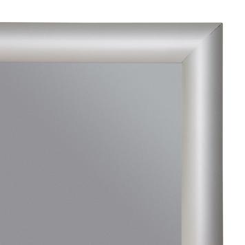 Пожарозащитена  сгъваема рамка. 25 mm профил, със скосени ъгли. Лакирана в сребърен цвят