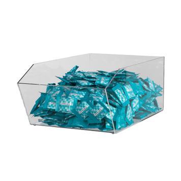 Кутия за продукти от акрилно стъкло, правоъгълна