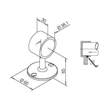 Държач-скоба за тръба, ефект на висококачествена стомана