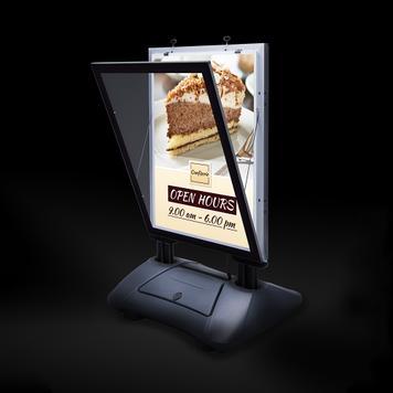 """Въртяща се реклама WindSign """"Seal"""" с LED осветление, DIN A1"""