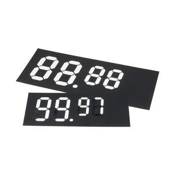 Сменяема табелка с дигитални цифри от пластмаса