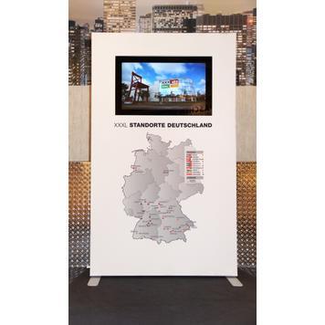Информационна плоча / стойка на монитор с дигитален печат