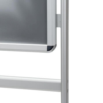 "Стойка за плакат ""Info"", 32 мм профил, рондо-ъгли, сребърно елоксирана"