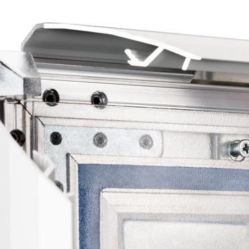 """Тротоарна табела, устойчива на дъждовна вода WingSign """"Seal"""", 44 мм профил, сребърен / сив, с челна табела"""