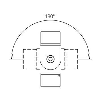 Тръбен съединител вътрешен – 900 до + 900, блестящо  полиран