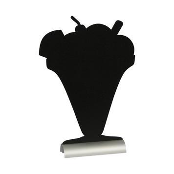 Настолна черна дъска с алуминиева основа